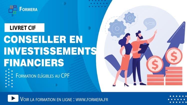 Livret Cif : Formation Conseiller en Investissements Financiers.